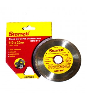 Disco de Corte Diamantado - 20x110mm - DDC110 - Starrett