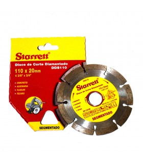 Disco de Corte Diamantado - 20x110mm - DDS110 - Starrett