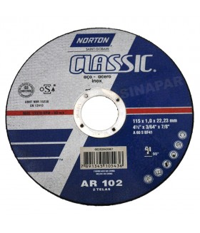 "Disco de Corte - 4.1/2"" x 1,00mm x 7/8"" - Norton Classic"